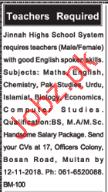 Teaching jobs in Private School