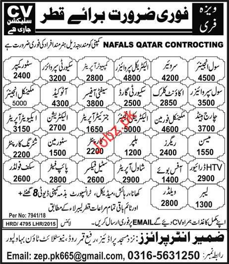 Civil Engineer Surveyor & Security Supervisor Jobs in Qatar