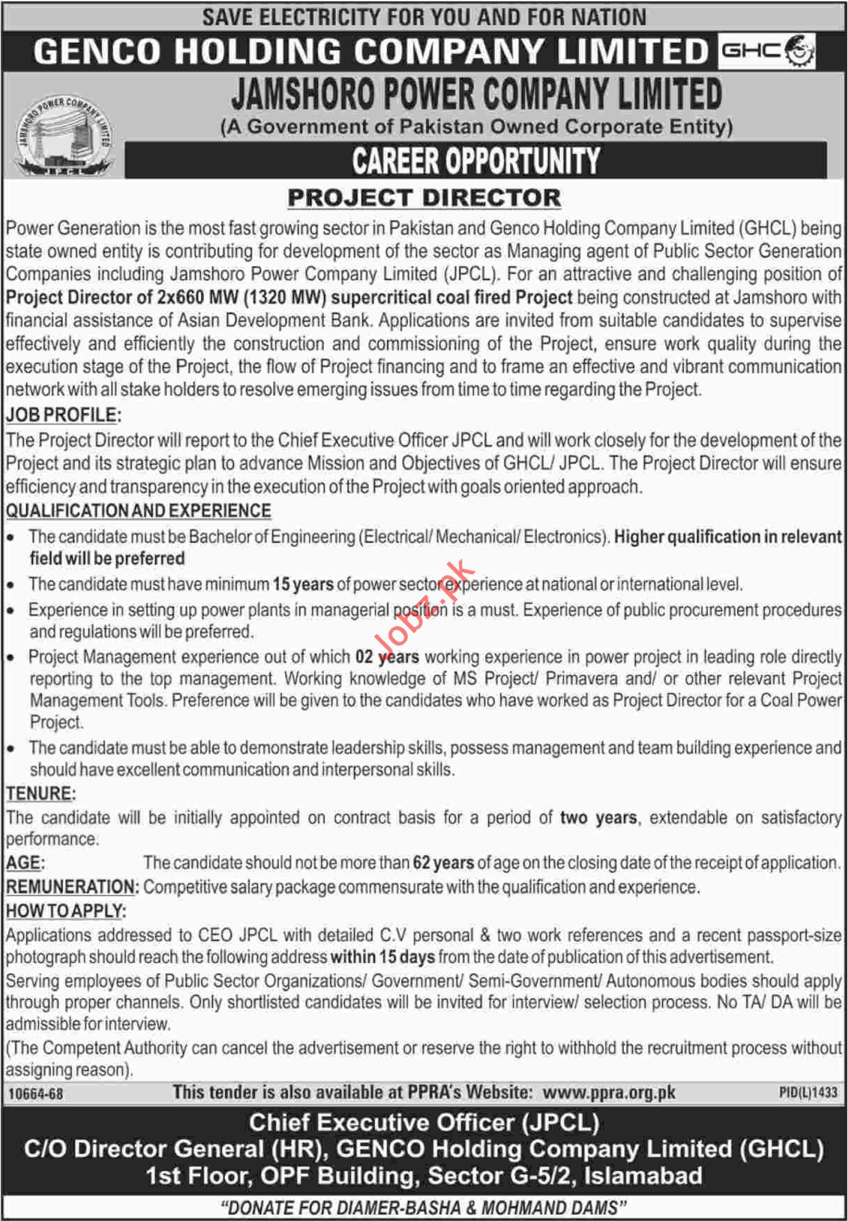 Project Director for GHCL