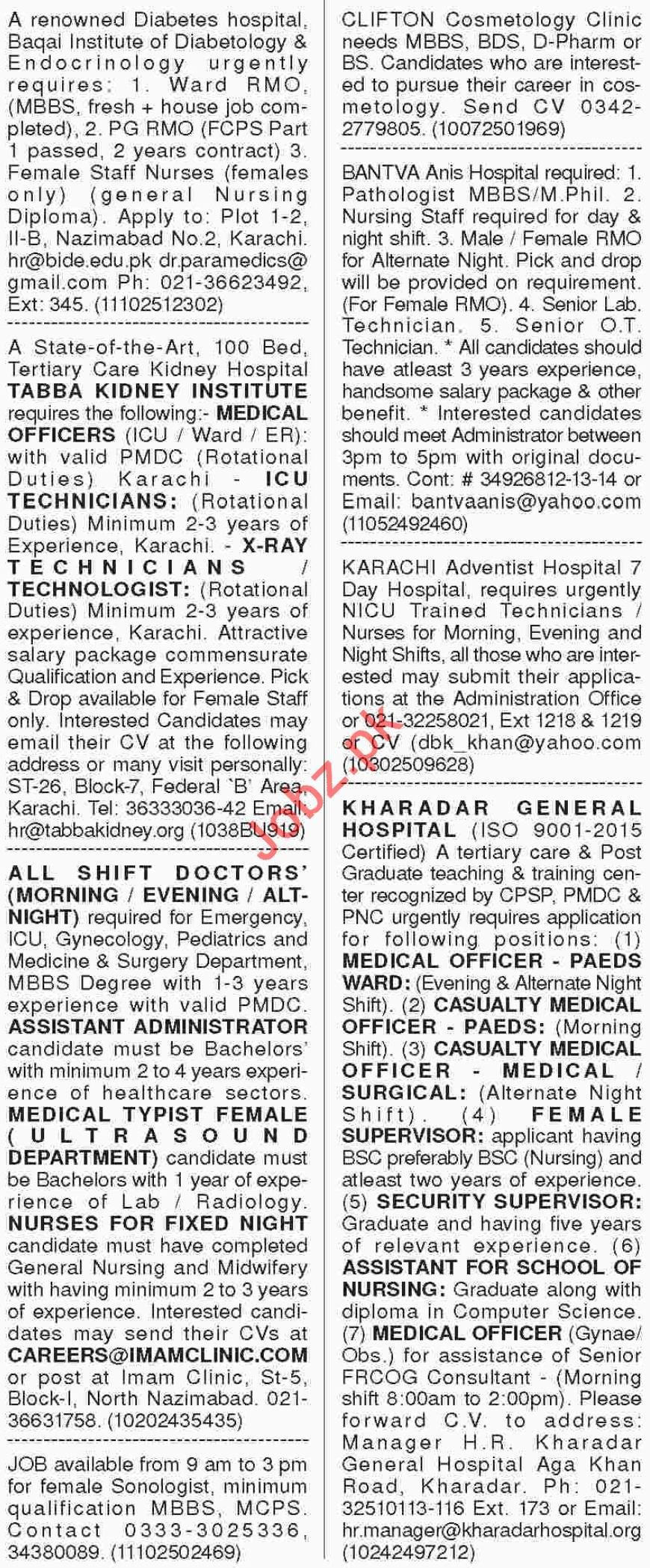Dawn Sunday Newspaper Classified Medical Jobs 2018