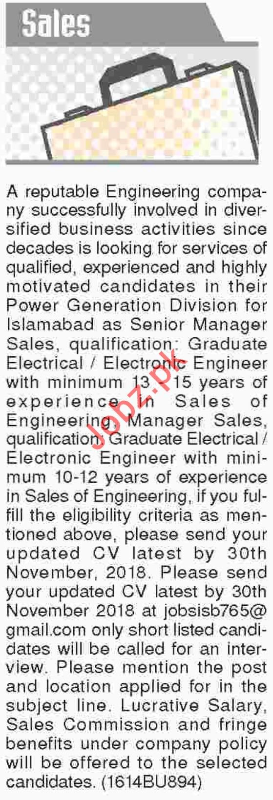 Dawn Sunday Newspaper Classified Sales Jobs 2018