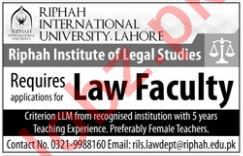 Law Faculty for Riphah International University