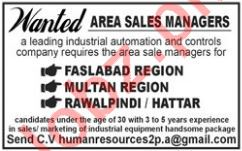 Area Sales Manager for Industrial Organization