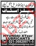 Sales staff for Hyundai Xteer Lubricants