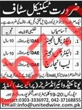 United Wire Industries Lahore Jobs 2018 for Engineers