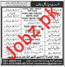 Medical Jobs 2018 in Rawalpindi