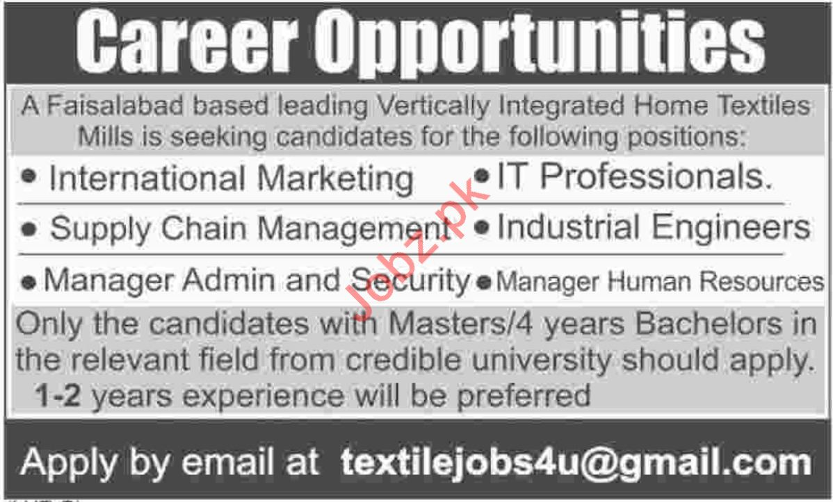 Manager Admin & Security and Manager HR Jobs 2018