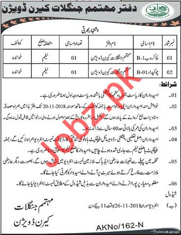 Forest Division Jobs 2018 in Muzaffarabad AJK