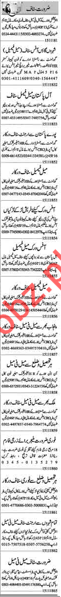 Daily Dunya Newspaper Classified Ads 2018 For Lahore