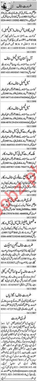 Dunya Newspaper Classified Jobs 2018 In Lahore