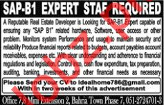 SAP-B1 Expert Staff Jobs 2018 in Rawalpindi