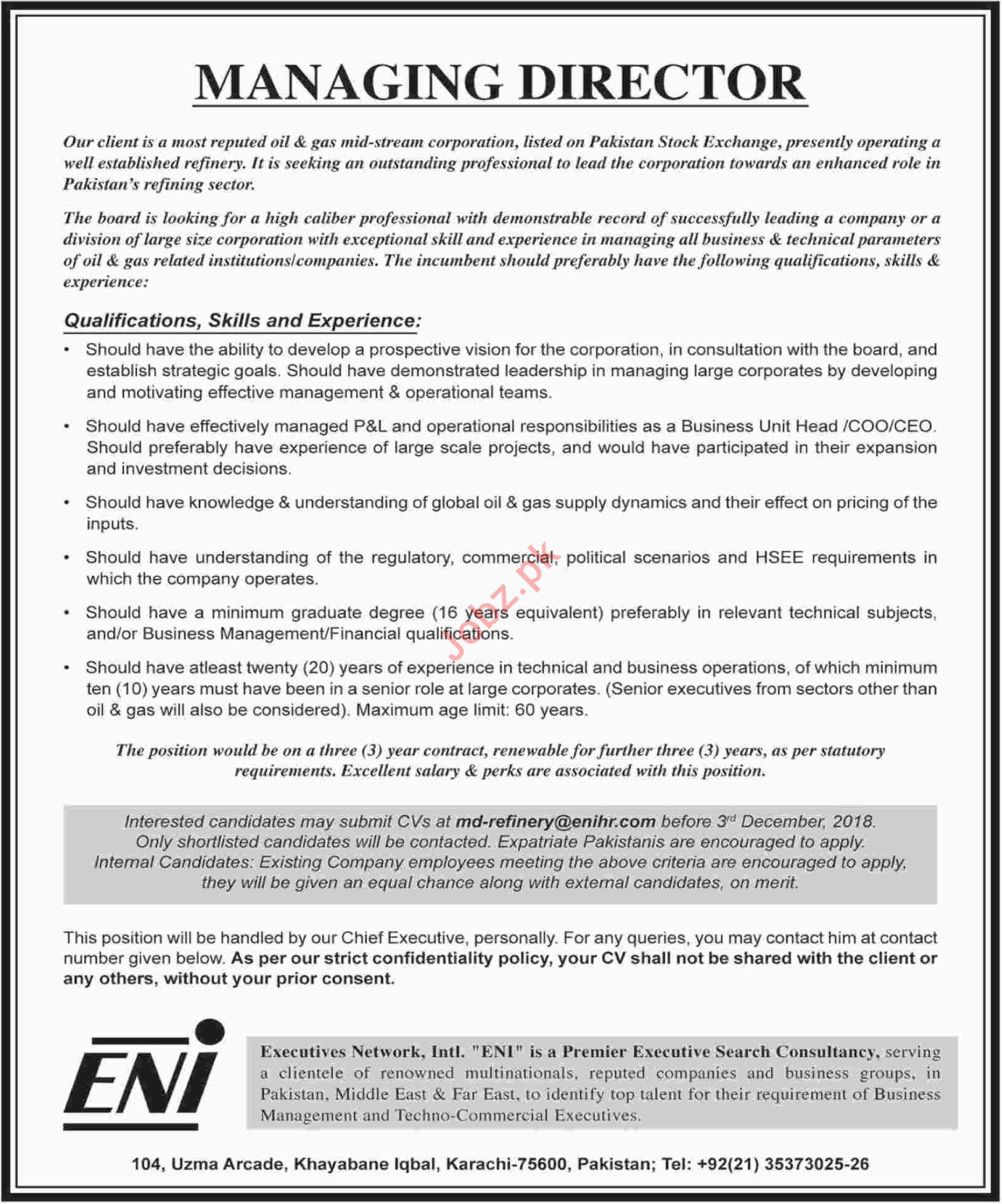 Executives Network Intl Eni Managing Director Jobs 2019 Job
