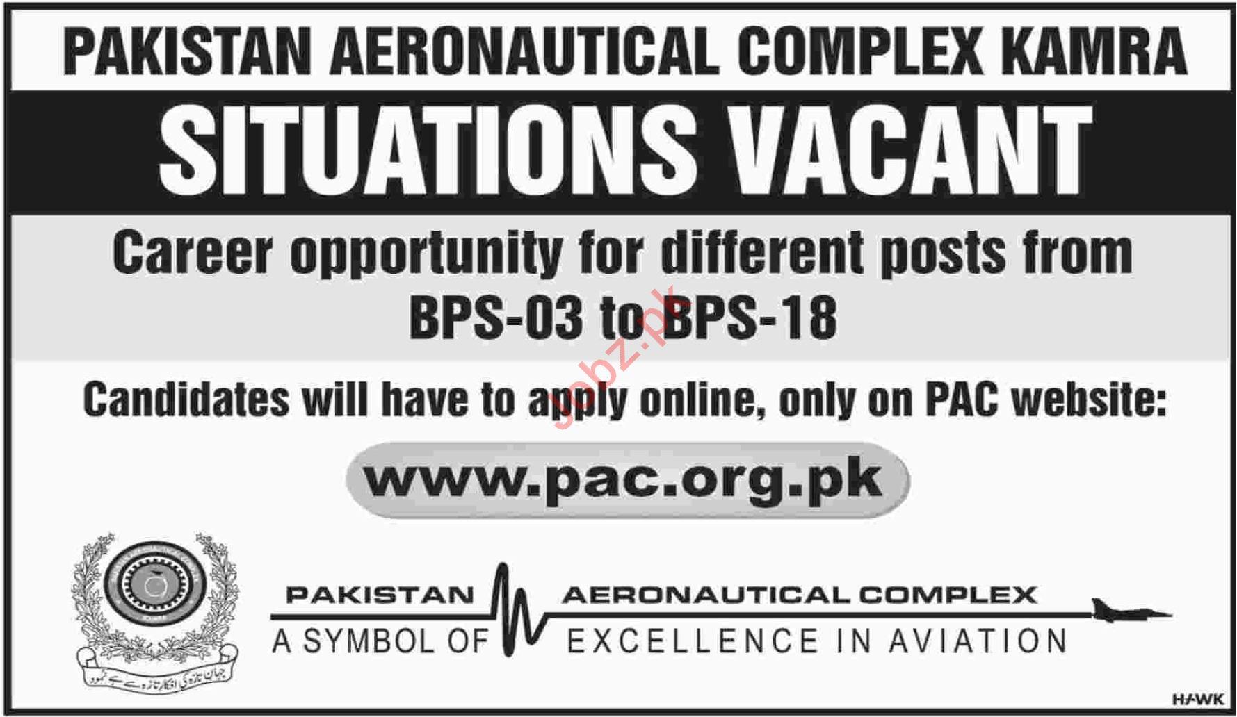 Medical Staff for Pakistan Aeronautical Complex PAC