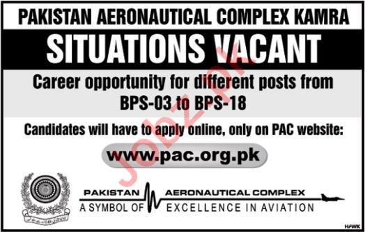 Technical Staff for Pakistan Aeronautical Complex PAC