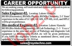 Sales Engineers for Rays Technologies
