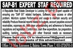 SAP B1 Expert Staff for Real Estate Company