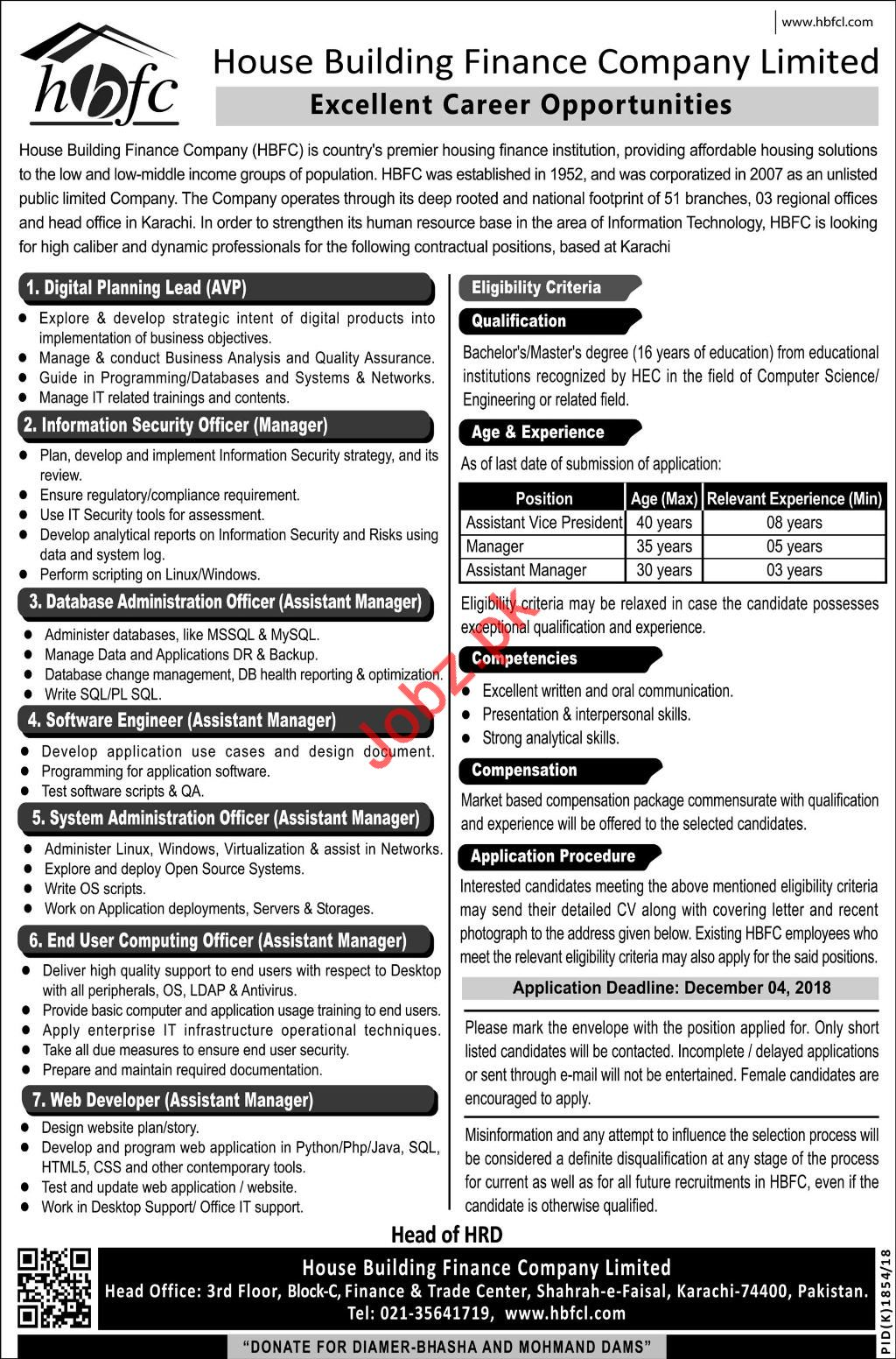 HBFC House Building Finance Company Limited Jobs 2018