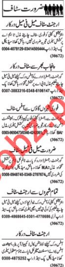 Daily Nawaiwaqt Newspaper Classified Ads 2018 In Lahore