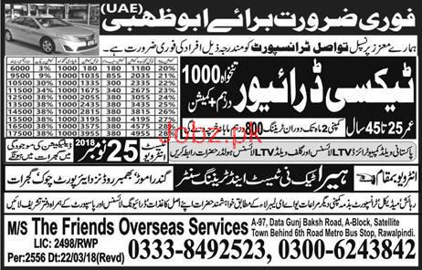LTV Taxi  Drivers Job in Taswal Transport