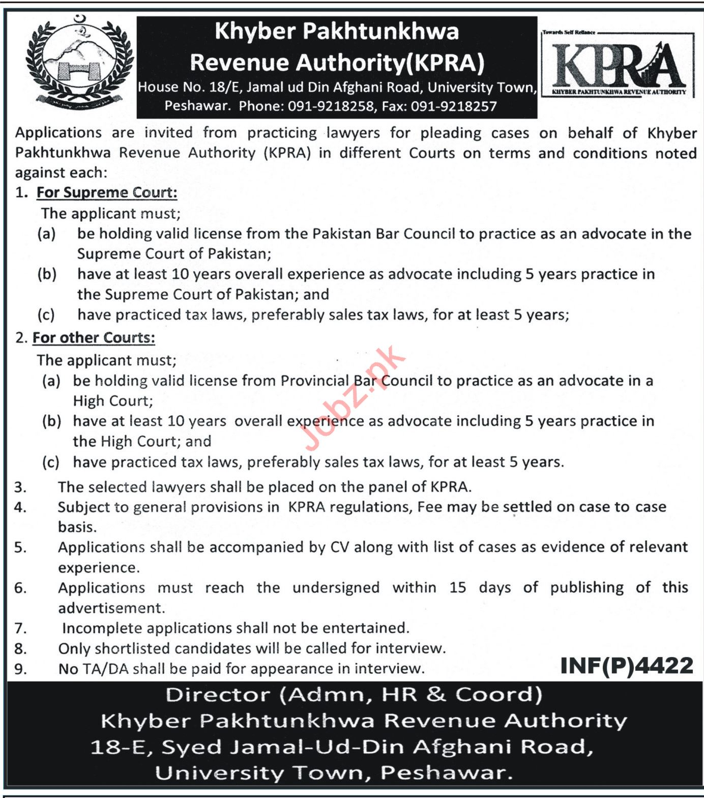 Lawyers Career Opportunities at KPRA