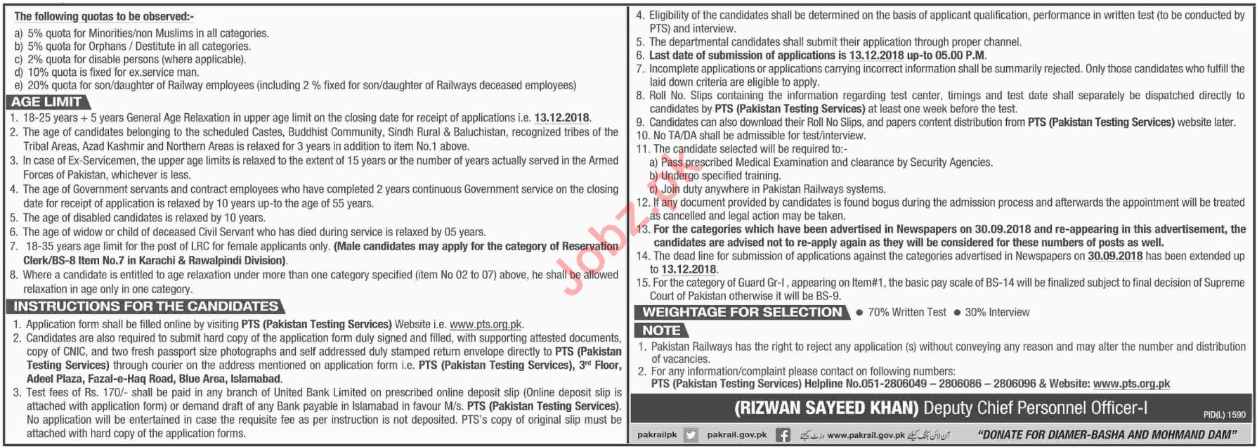 Pakistan Railways SM Group Student Job Opportunities 2019 Job