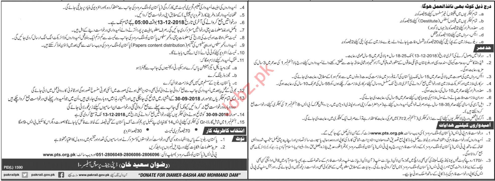 Pakistan Railways SM Group Student Career Opportunities