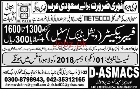 Fabricators Job Opportunity
