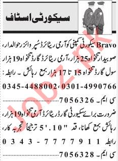 Security Staff Jobs 2018 in Lahore