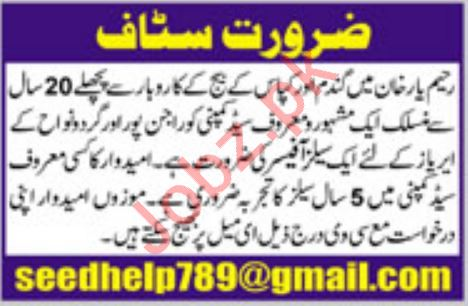 Sales Officer Job 2018 in Rahim Yar Khan