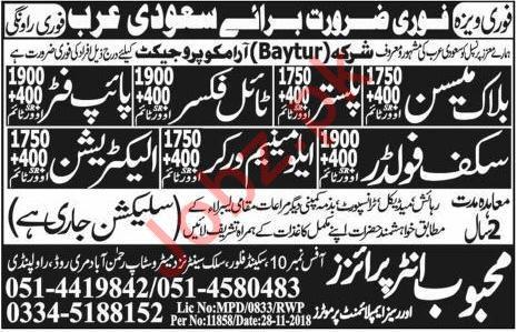 Baytur Aramco Company Construction Jobs 2018