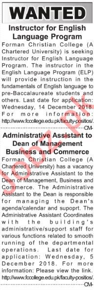 English Language Instructor & Administrative Assistant Jobs