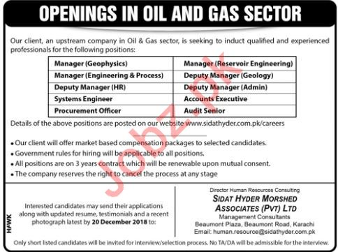 Sidat Hyder Morshed Associates Ltd Manager Geophysics Jobs