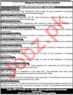 Project Manager Jobs at Mughals Pakistan Pvt Limited