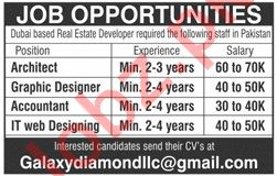 Architect Graphic Designer Accountant It Web Designing Jobs In Galaxy Diamond Contracting Llc