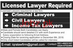 Criminal Lawyer, Civil Lawyer Job Opportunity