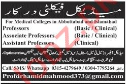 Medical Faculty Jobs 2019 in Abbottabad & Islamabad