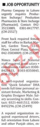 The Nation Newspaper Classified Jobs 2019 For Karachi