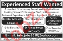 Accounts Director, Finance Director, Manager Jobs 2019