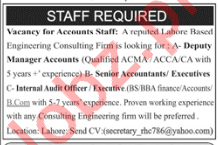 Accounts Staff Jobs 2019 in Lahore