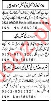Daily Aaj Newspaper Teaching Classified Ads 2019