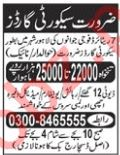 Security Guards Jobs 2019 in Lahore
