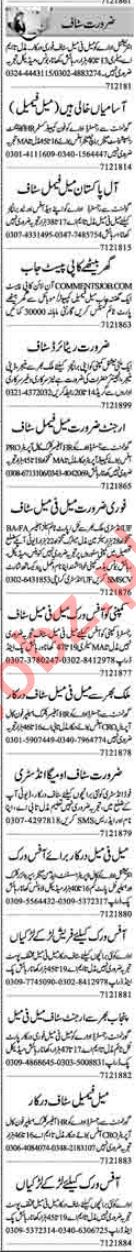 Daily Dunya Newspaper Classified Ads 7th Dec 2018