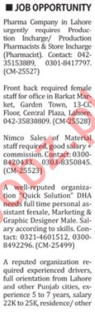 Daily Nation Newspaper Classified Ads 7th Dec 2018