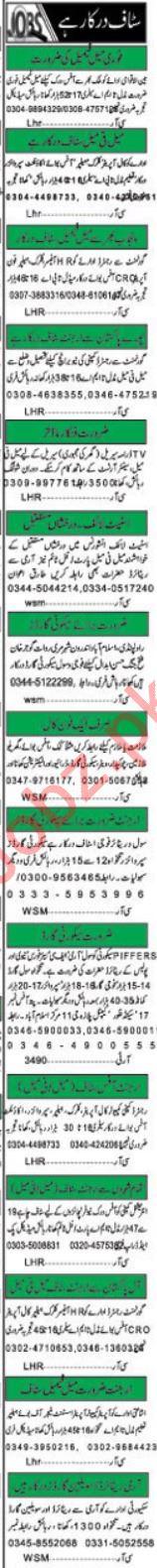Khabrain Newspaper Classified Ads 2019 For Islamabad