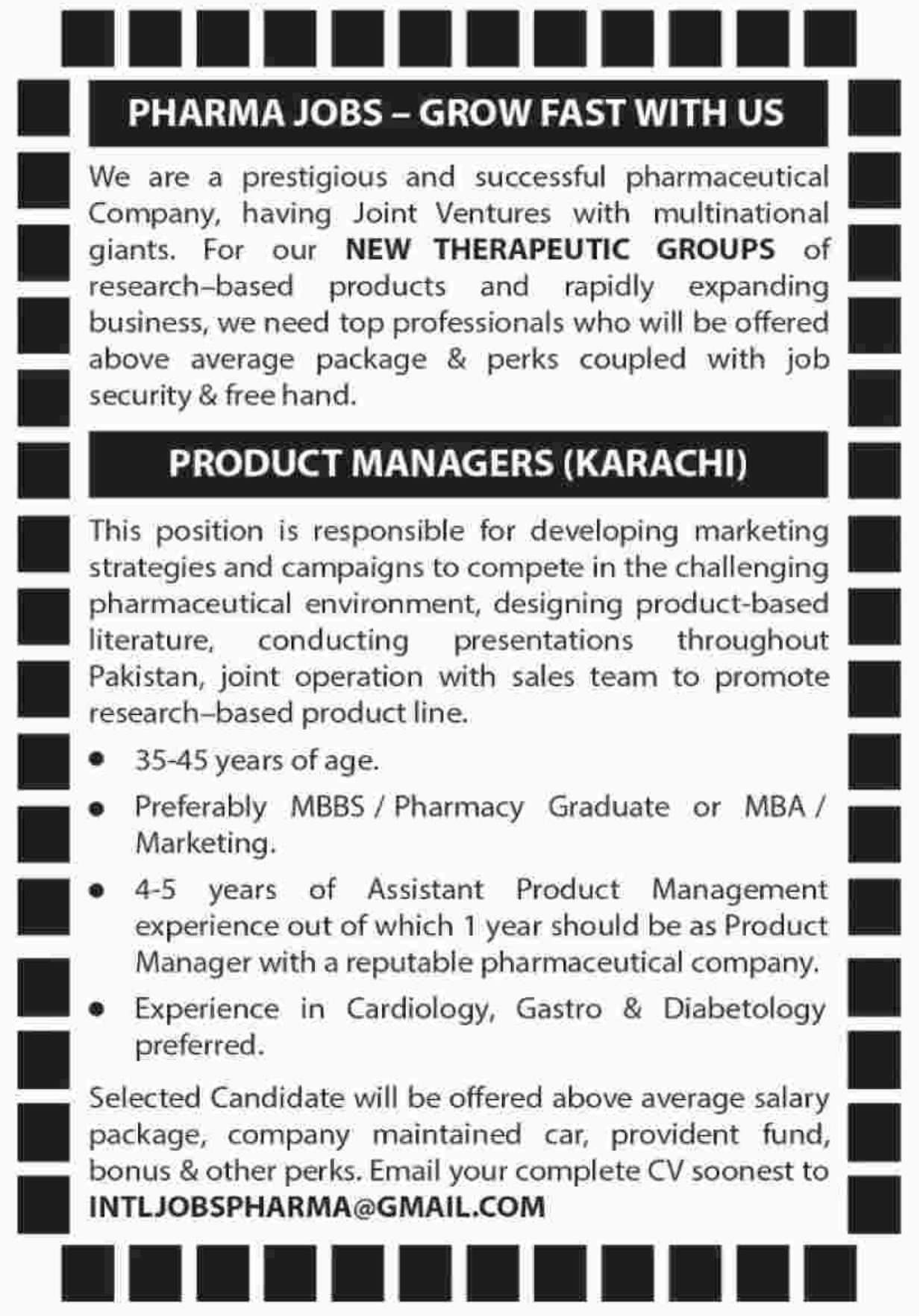 New Therapeutic Groups Product Manager Jobs 2019
