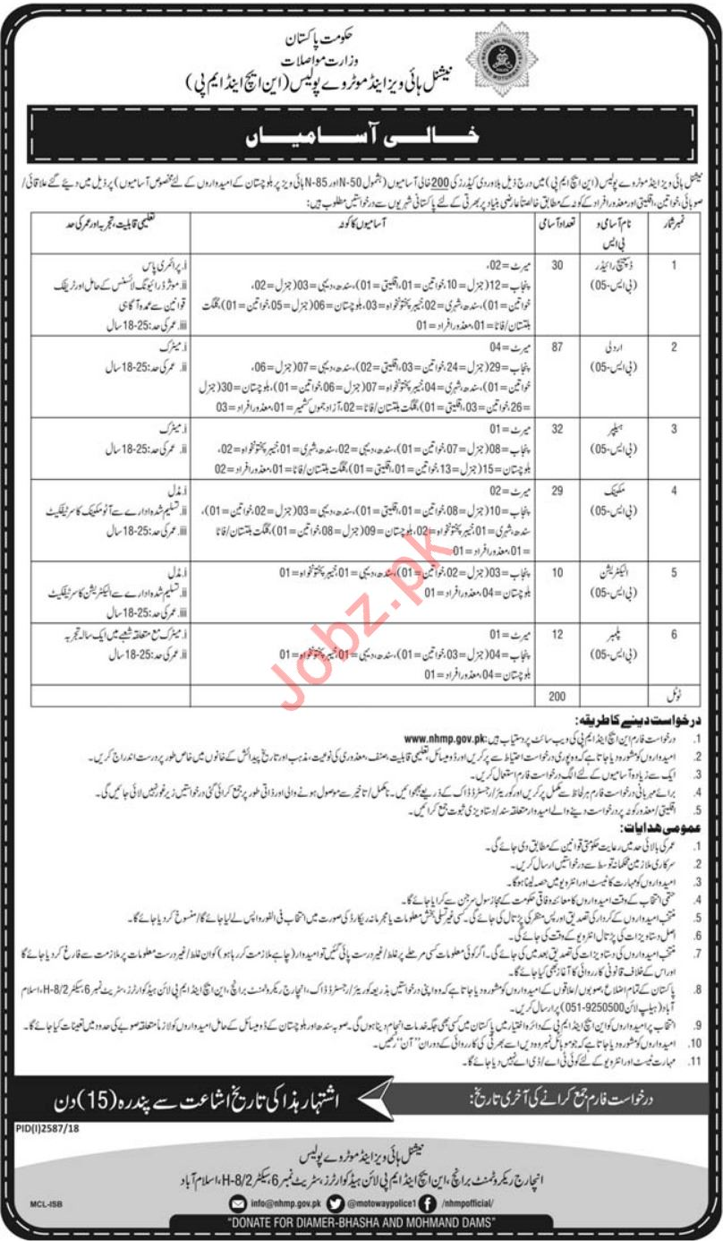 NH&MP Ministry of Communication Jobs 2019