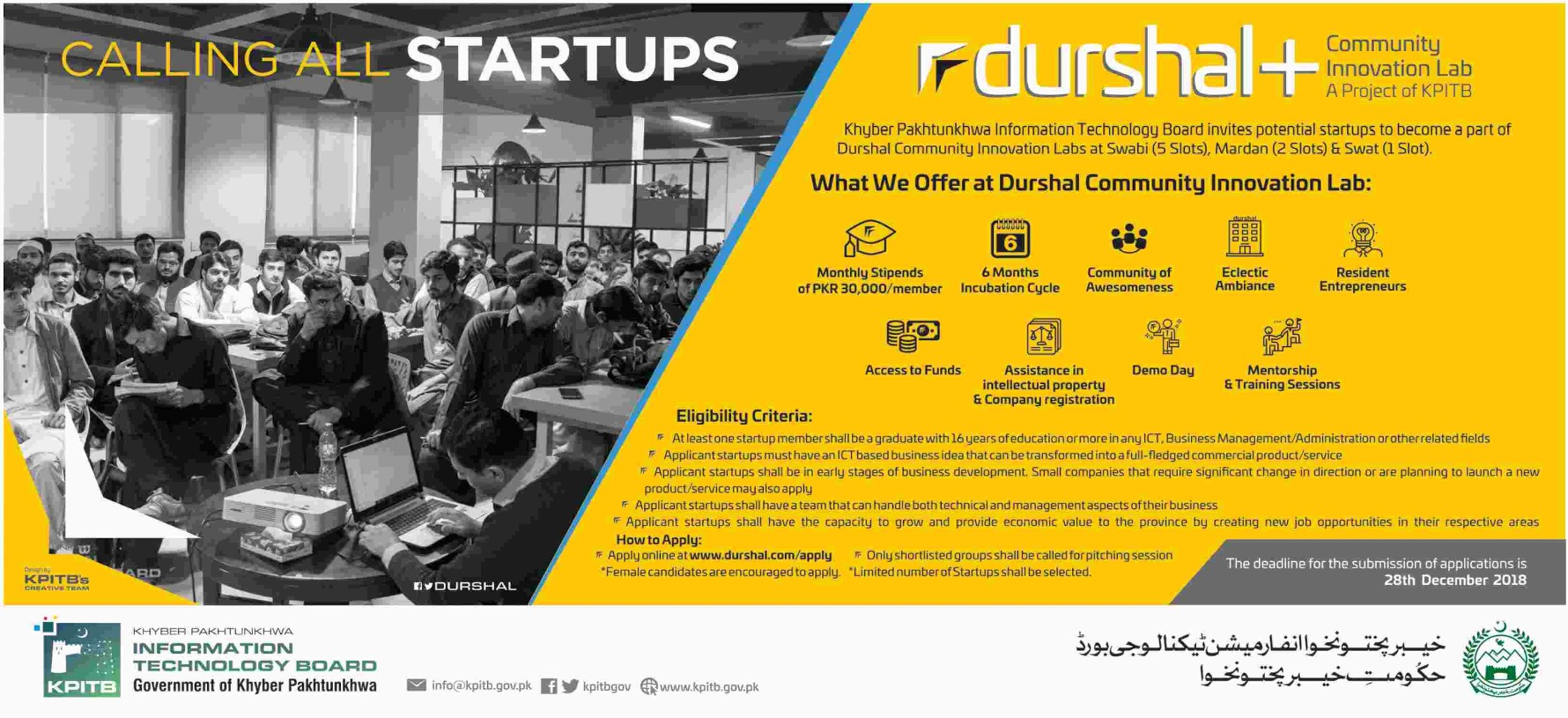 Durshal Community Innovation Lab 2019