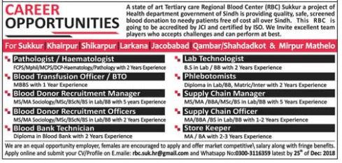 Regional Blood Center RBC Pathologist Jobs 2019