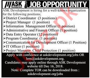 ASK Development District Coordinator Jobs