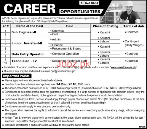 Sub Engineer, Junior Assistant, Data Entry Operator Jobs